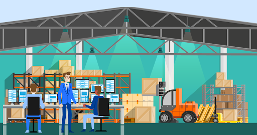 Inventory control of textile and clothing warehouses